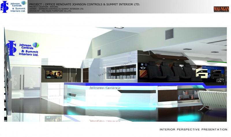 งานออกแบบตกแต่งภายใน Zone Reception area